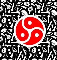 BDSM Symbol Sign for sadist masochist love Emblem vector image vector image