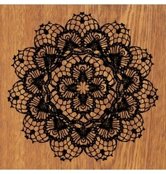 Black crochet doily vector image vector image
