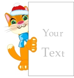Cat and advertising poster vector image