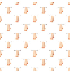 Clean towel on a hanger pattern vector