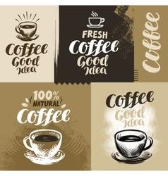 Coffee for design menu vector image vector image