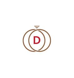 d letter ring diamond logo vector image vector image