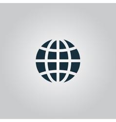 Earth Globe Emblem vector image