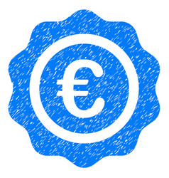 Euro quality seal grunge icon vector