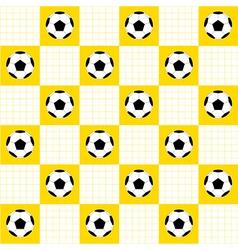 Football ball yellow white chess board vector