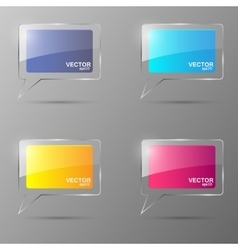 Glass bubble speech set vector image vector image