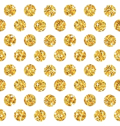 Golden Geometry Glitter Background vector image vector image