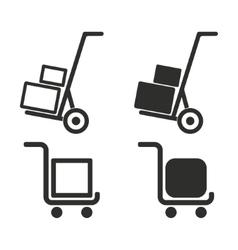 Handcart icon set vector image vector image