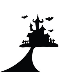 House of hallowen silhoute vector
