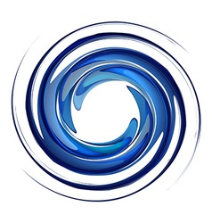 Isolated water vortex vector