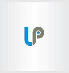letter lp logo logotype vector image vector image