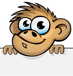monkey with background vector image vector image