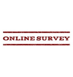 Online survey watermark stamp vector