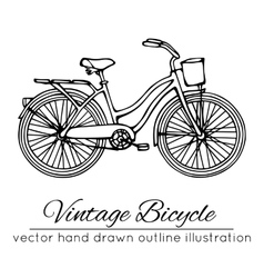 Outline vintage bicycle vector