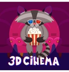 Raccoon cinema poster vector