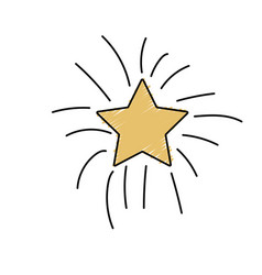 Shiny star in the sky art vector