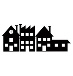 silhouette houses bulding city neighborhood vector image