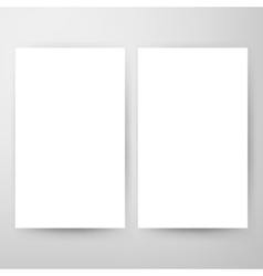 Two blank brochure mockup vector