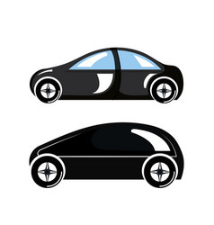 Two car luxury automobile modern detailed style vector