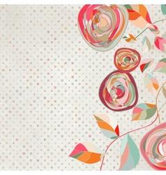 Vintage floral copy space background vector