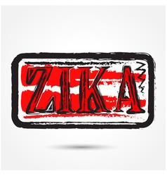 Zika virus grunge rubber stamp vector image