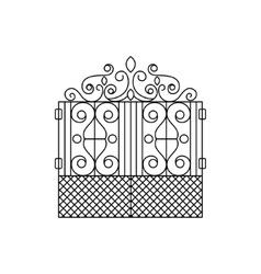 Classic vintage lattice fencing design vector