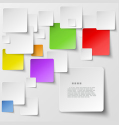 Color square tiles abstract background vector image