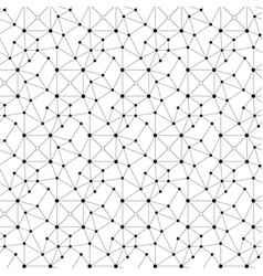abstract seamless pattern dots lines and squares vector image
