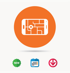 Gps street navigation icon smartphone sign vector