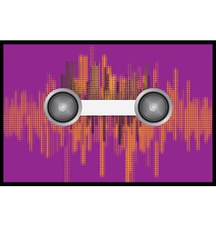 Music background with halftone vector