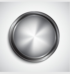 Chrome button vector