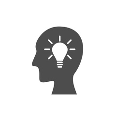 Icon process of generating ideas to solve problems vector