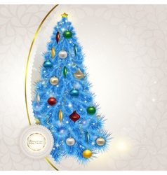 Abstract lace background with elegant christmas vector