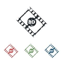 3d film grunge icon set vector