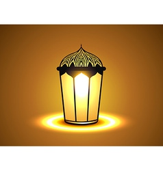 Glowing lamp vector