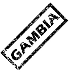Gambia rubber stamp vector
