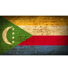 Flags comoros with dirty paper texture vector