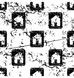 House plate pattern grunge monochrome vector