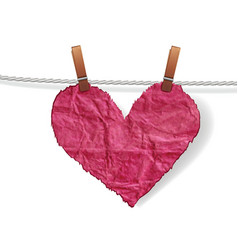 heart crumpled ragged vector image