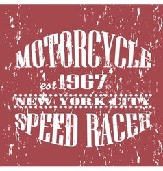 Vintage banner retro motorcycle tee banner vector