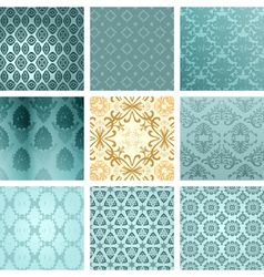 retro backgrounds set vector image