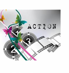 Action film vector