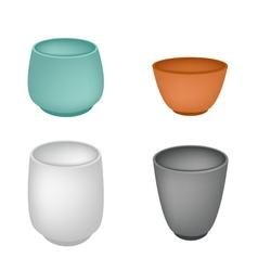 A Set of Japanese Yunomi Tea Cup vector image vector image