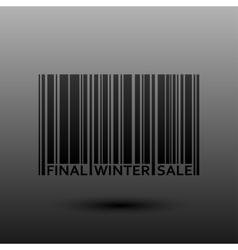 Abstract Barcode Final Winter Sale vector image