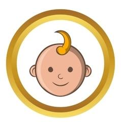 Baby face icon cartoon style vector