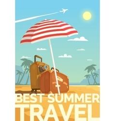 Best Summer travel vector image vector image