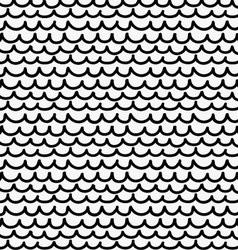 Black marker drawn simple fish skin vector