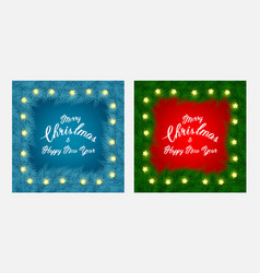 Christmas flayer brochure and cards with tree vector