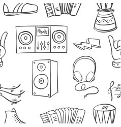 Collection stock of doodle music vector