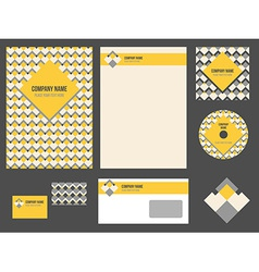 Corporate identity for company or event vector